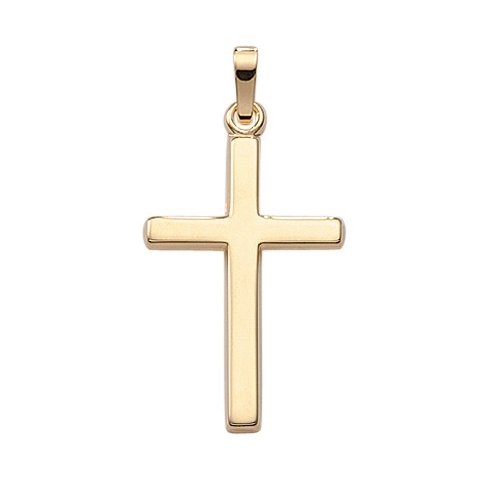 Goldkette mit kreuz 585  L Kreuz Anhänger klassisch aus 585 Gold - jetzt online kaufen