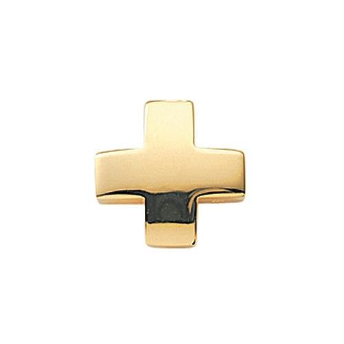 s kreuz anh nger glanz gleiter aus 585 gold integrierte. Black Bedroom Furniture Sets. Home Design Ideas