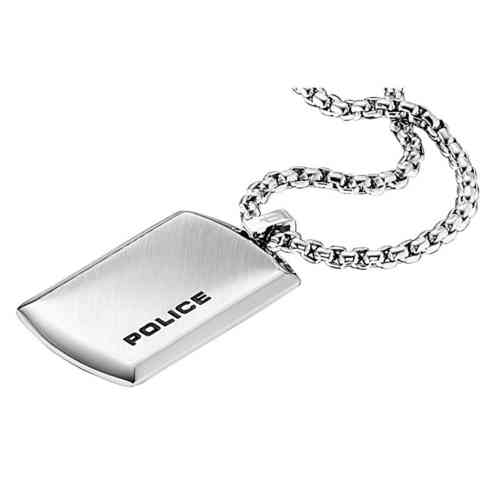 Police Purity Silber Dogtag mit Halsette