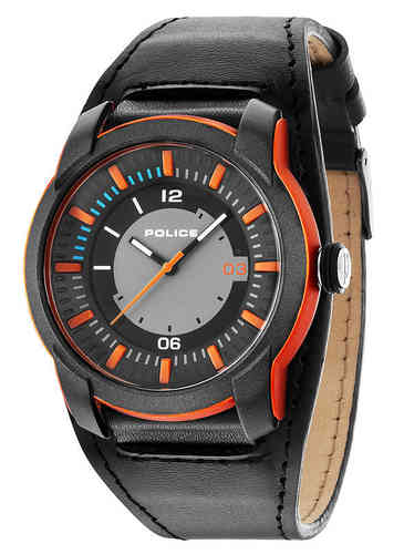 Police Herrenuhr Armbanduhr APOLLOS Orange