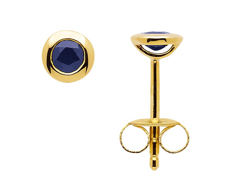 Ohrstecker saphir gold