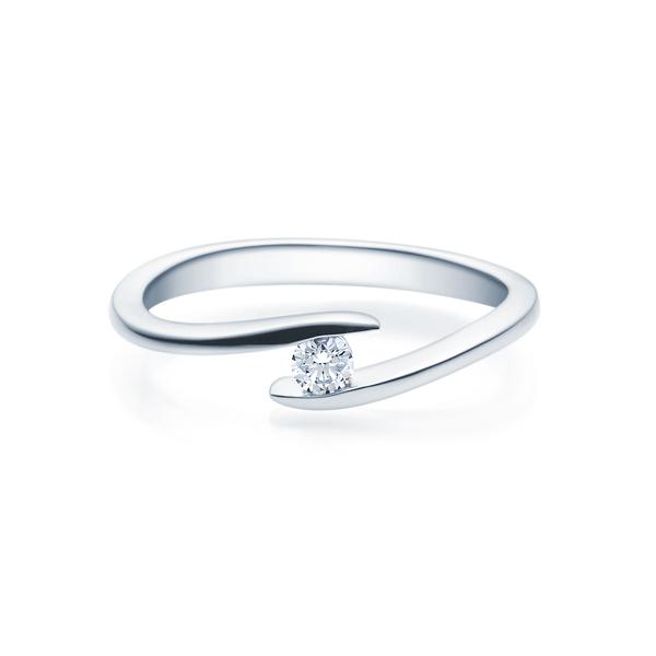Verlobungsring Spannring Mit Diamant 2 75 Mm Aus 925 Silber
