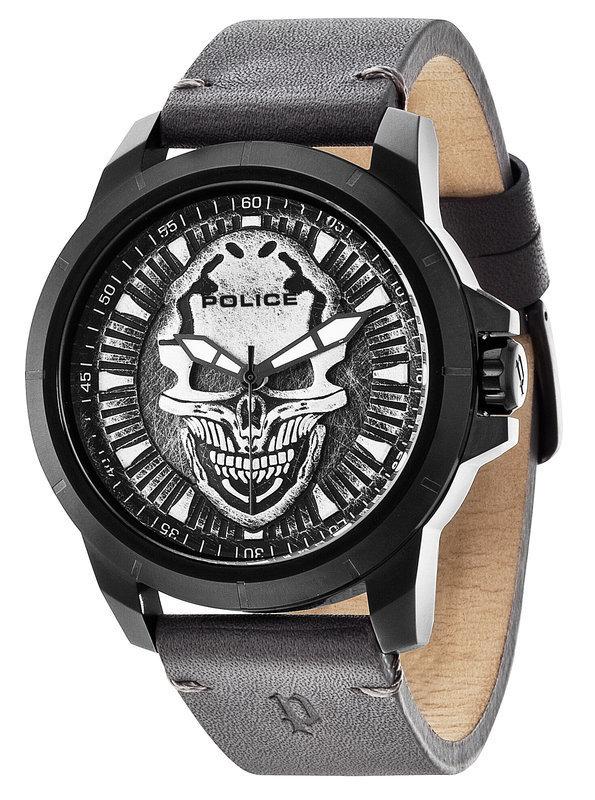 Police Herrenuhr Armbanduhr SKULL schwarz