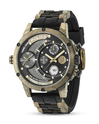 POLICE Herrenuhr AQUAMAN ADDER Multifunktion PL14536JSQG.AM
