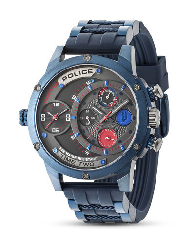 POLICE Herrenuhr SUPERMAN ADDER Multifunktion PL14536JSBL.SM
