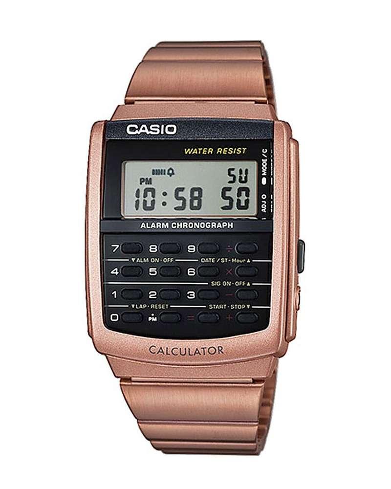 Casio Rotgold Digitaluhr Taschenrechner Uhr zurück in die Zukunft