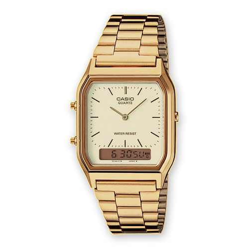 Casio Retro Gold dual Digital Analag Uhr