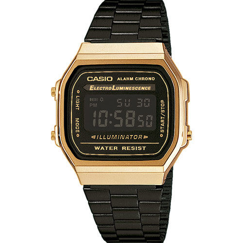 Casio black Gold Digitaluhr Retro Uhr mit Funktionen