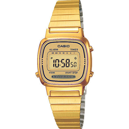 Casio Digitaluhr Retro Uhr mit 7 Preset Timer