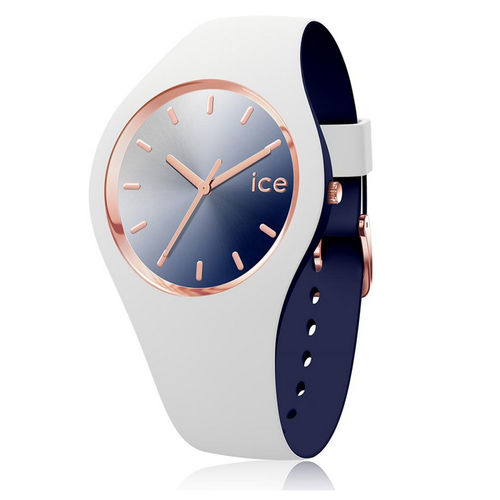 Ice watch Damenuhr 40 mm Two Color blau weiss