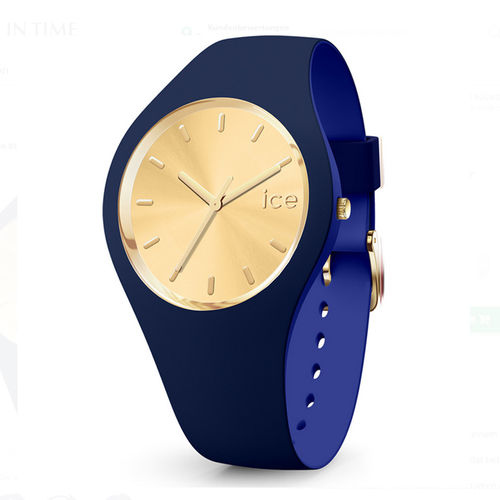 Ice watch Damenuhr 40 mm Two Color blau gold